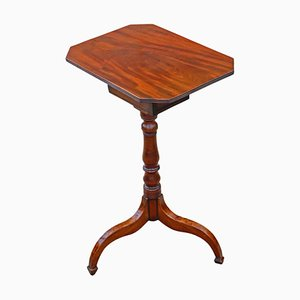 Georgian Mahogany Tilt-Top Wine or Side Table with Drawer, Circa 1800