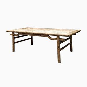 Tavolo da pranzo Massive in legno di frassino sbiancato, Francia, anni '60