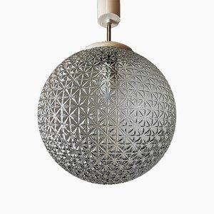 Mid-Century Deckenlampe aus geschliffenem Glas, 1960er