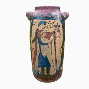 Antike Normandie Vase von Lucien Desmant für Manufacture de Subles