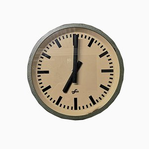 East German Industrial Factory Office Clock from Elfema, 1950s