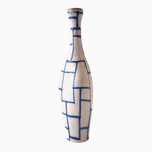 Botella de cerámica italiana esmaltada de Guido Gambone, años 60