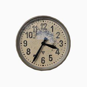 Large Czech Industrial Factory Clock from Pragotron, 1950s