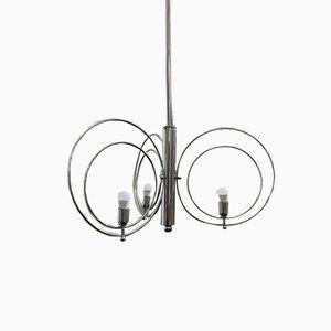Steel Circles Ceiling Lamp, 1970s