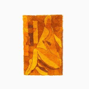 Dänischer Orangefarbener Rya Teppich aus Wolle von Gram, 1960er