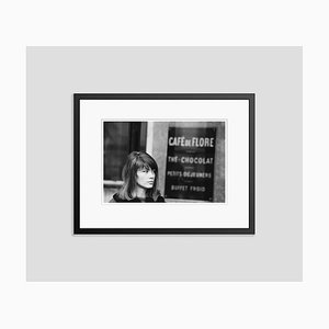 Francoise Hardy at Café Flore Archival Pigment Print Framed in Black by Giancarlo Botti