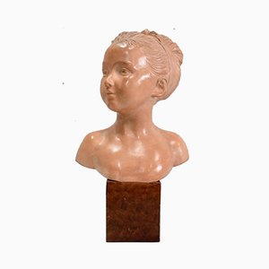 Terracotta Bust of Louise Brongniart After Houdon, 1900