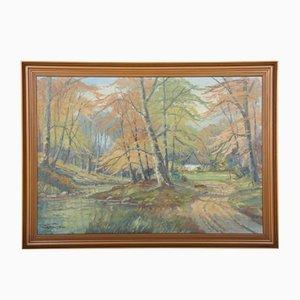 Hilbert Jensen (Born 1911), pintura, años 50