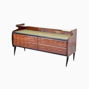 Mid-Century Italian Rosewood & Brass Sideboard, 1960s