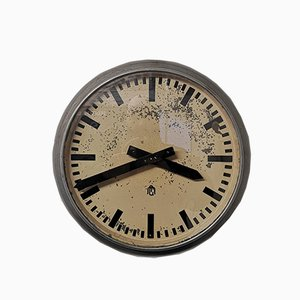 Vintage Industrial Clock from GM Switzerland, Early 1940s