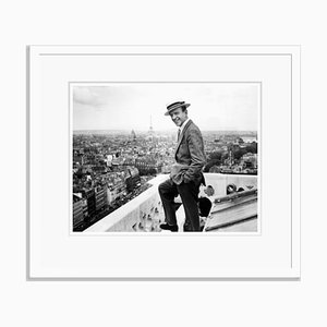 Fred Astaire & the Parisian Skyline Archival Pigment Print Framed in White by Everett Collection