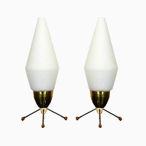 Raketen Tischlampen, 1970er, 2er Set
