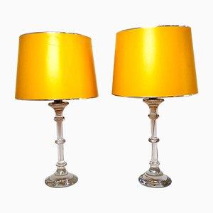 Lampes de Bureau avec Socle en Verre, 1960s, Set de 2