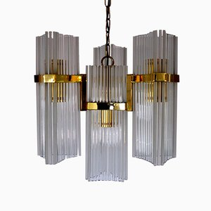 Italian Chandelier by Gaetano Sciolari for Lightolier, 1970s