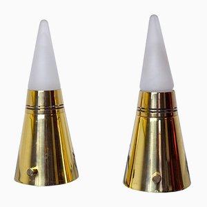 Vintage Pyramid Tischlampen von Paolo Venini für Venini, 1970er, 2er Set
