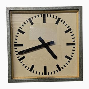 Large Vintage East German Industrial Factory Clock from Elfema, 1950s