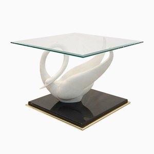 Table d'Appoint Cygne Vintage de Maison Jansen, 1970s