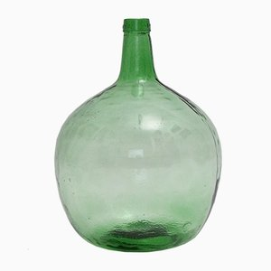 Green Glass Bottle Flower Vase from Viresa, 1970s