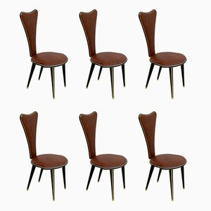 Mid-Century Italian Modern Dining Chairs by Umberto Mascagni for Harrods, 1950s, Set of 6