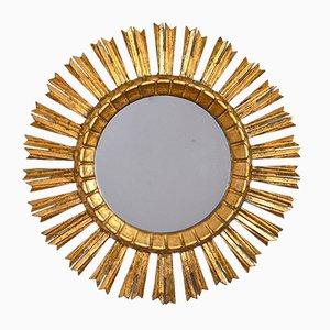 Gilded Wood Sun Mirror, 1950s