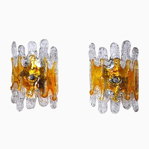 Murano Glass Lava Sconces from Mazzega, 1970s, Set of 2