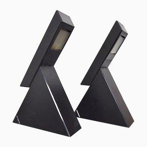 Delta Table Lamps by Mario Bertorelle for Jm Rdm, 1970s, Set of 2