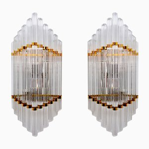 XXL Vintage Sconces by Paolo Venini for Venini, 1970s, Set of 2