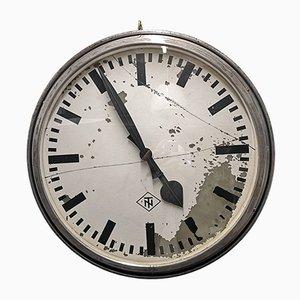 Grande Horloge de Gare Mid-Century à Double Face de TN Tele Norma, 1950s