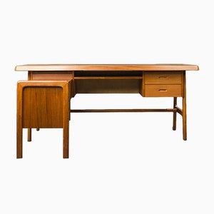 Teak Desk with Sideboard, 1960s