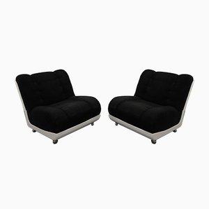 Italian Lounge Chairs, 1970s, Set of 2