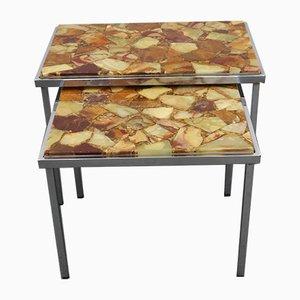 Tables Gigognes Vintage, 1970s, Set de 2