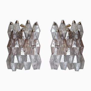 Poliedri Sconces by Paolo Venini for Venini, 1958, Set of 2