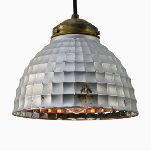 Mid-Century Industrial Mercury Glass & Brass Pendant Lamp from Wonder Licht