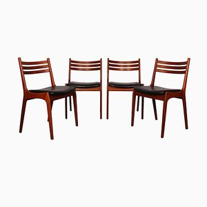 Scandinavian Dining Chairs from K.S. Mobler, 1960s, Set of 4
