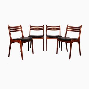 Skandinavische Esszimmerstühle von KS Mobler, 1960er, Set of 4