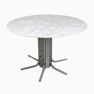 Italian Beveled Marble Dining Table, 1970s