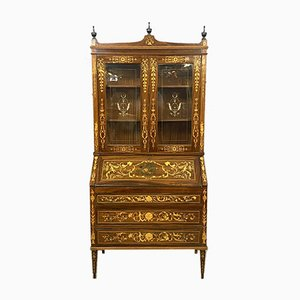 Antique 3-Part Lombard Cabinet with Native Wood Inlay, 1900s