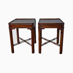 Antique Mahogany Side Tables from Nordiska Kompaniet, 1800s, Set of 2