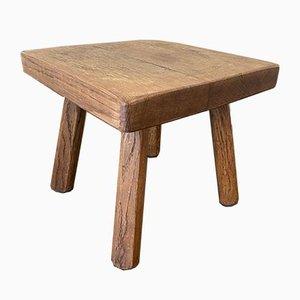 Table d'Appoint Style Pierre Jeanneret en Chêne Massif, 1950s