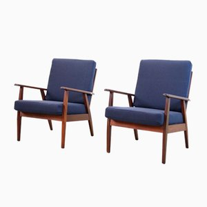 Danish Teak Armchairs, Set of 2