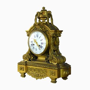 Middle Gilt Bronze Clock from Lemerle-Charpentier Paris