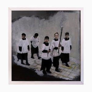 Peinture Roberto De Francisci - Autel Boys - Peinture à l'Huile Originale - 2013