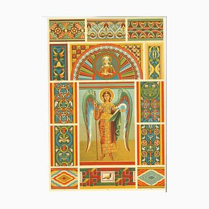 Unknown - Roman Decorative Motifs - Vintage Chromolithograph - Early 20th Century