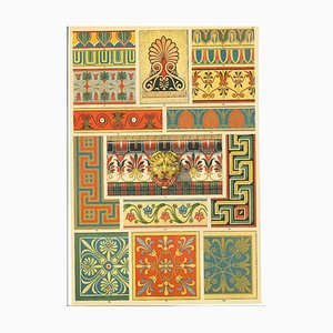 Unknown - Greek Decorative Motifs - Original Chromolithograph - Early 20th Century