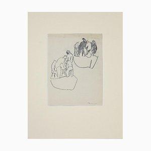Herta Hausmann - Matrosen - Originalzeichnung - 1950er Jahre