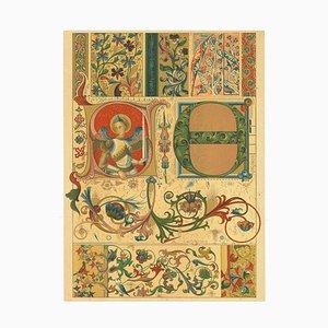 Unbekannt - Gotische Dekorationsmotive - Vintage Chromolithografie - Frühes 20. Jahrhundert