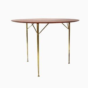 Mesa danesa de 3 patas de Arne Jacobsen para Fritz Hansen, años 50