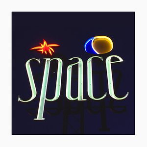 Space, Ibiza, the Balears Gerahmte - Contemporary Color Sign Photography 2016