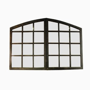 Antique French Window Frame Mirror