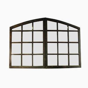 Espejo con marco francés antiguo con forma de ventana